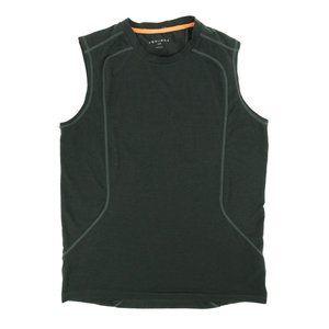 Equinox Tank Top Shirt Activewear Crew Neck Gray S